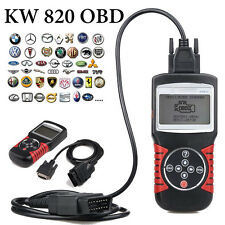 KW812 OBDII OBD2 EOBD Diagnosegerät Diagnose Scanner Tester für Auto PKW LKW Neu