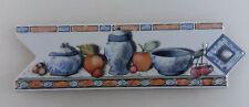 Border Listello Accent Backsplash Decorative Tile Fruit Blue Crockery