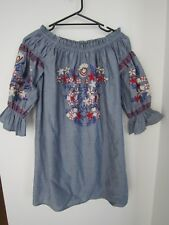 NWOT LITTLE LIES Embroided Dress - Size 12