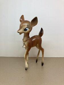 Vintage Retro Plastic Bambi Reindeer Deer Christmas Ornament Decoration 1960s