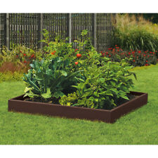 Raised Above Ground Gardening Bed Kit Garden Planter Elevated Resin Single Bed