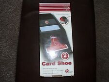 wooden card shoe two deck capacity -black satin finish