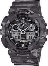 Casio G Shock GA100CM-8A Men's Analog-Digital Gray Camouflage Resin Band Watch