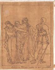 Dessin néo-classique. Dumont, Girodet, Racine, Phèdre. Drawing 19th XIXe s.