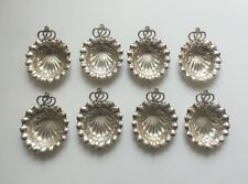 Set/8 GORHAM DURGIN Sterling Silver Nut Dishes / Place Card Holders, 235 grams
