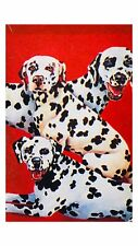"Toland ""Three Dalmations"" 24"" x 36"" Outdoors Art Flag Dalmatian Puppy Dogs New"