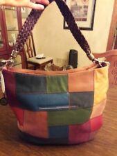 The SAK Indio leather hobo bag, patchwork multi color design 229.99 MSRP