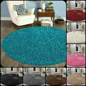 beNew Modern Super soft Shaggy Circular Round 120 x 120 Verona Rugs Floor Mats