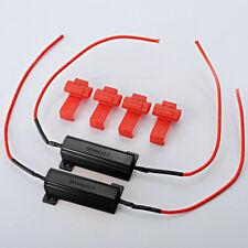 2x LED Indicator 50W 6Ω Flash Rate Relay Turn Signal Load Resistor Bulbs Ballast