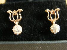 New boxed gold metal & sparkly earrings pierced