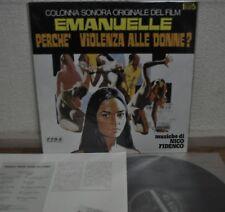 Emanuelle Perche' Violenza Alle Donne? Soundtrack Nico Fidenco Japan LP King