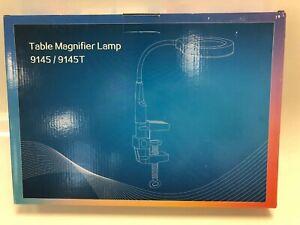 Detachable 5X 12X Magnifier LED Light Desk Magnifier Illuminated Magnifier