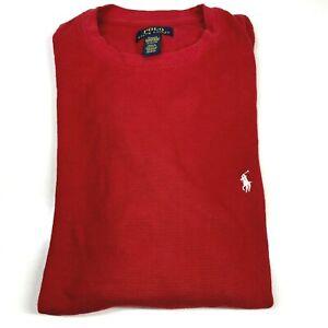 Polo Ralph Lauren Extra Large XL Red Long Sleeve T-Shirt Sleepwear Top (1402 D8)