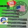 "6  MULCHING SCAG EXMARK FERRIS 52"" 36"" USA MADE 18"" BLADES 5/8"" HOLE GATOR STYLE"