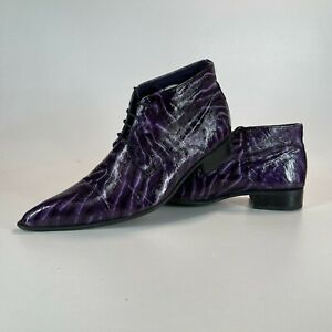 GUCINARI - Shoes - Western - Winklepickers - Patterned Purple - UK size 11 - VGC
