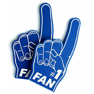 Foam Hand Number 1 Fan Pack of 5