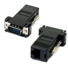 LAN MacHo a VGA Extender CAT5 CAT5e CAT6 RJ45 Cable De Red Adaptador Hembra Reino Unido