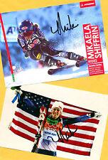 Mikaela shiffrin - 2 top autógrafo-imágenes (5) - Print copies + ski ak firmado
