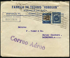 Colombia 1934 Cali a Reino Unido #C40586 Cubierta de correo aéreo