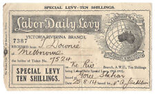OLD Leaflet Special Labor Daily Levy  1914 Victoria Riverina Branch 10 Shillings