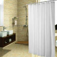 Duschvorhang weiss super lang für Hohe Decken 260 hoch x 200 cm breit Ringe