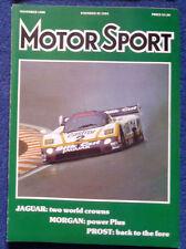 Motor Sport November 1988 Jaguar wins WSC, Prost wins in Portugal & Spain, 300SL