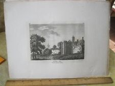 Vintage Print,HERFORD CASTLE,Grose's Antiquities England,c1790