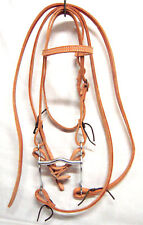 WESTERN PONY BROWBAND BRIDLE NATURAL SKIRTING LEATHER NEW TACK HORSE