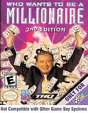 Who Wants to Be a Millionaire: 2nd Edition (Nintendo Game Boy Color, 2000)   D2