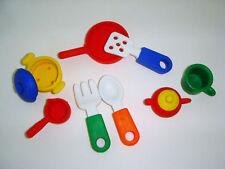 IWAKO 8 MINI Kitchen ware Puzzle Erasers: Spoon,Fork,Frying Pan,Tea Pot,Cup etc.