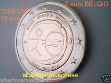 2 euro 2009 BELGIO 10 EMU UEM Belgique Belgica Belgien Belgie Belgium Бельгия