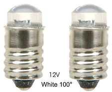 LED Lamp Bulb  12V White  100° MES E10 screw ......... Lot of 2