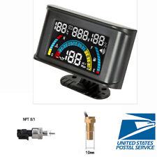 4 In 1 Voltage + Oil Pressure + Water Temp + Oil Fuel Gauge with 1/8 NPT Sensor