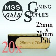 20x 25mm x 70mm Pill Laser Cut MDF Miniature Bases FREE US SHIPPING!!