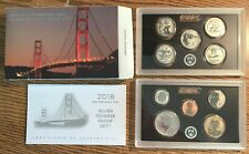 2018-S U.S. Silver Reverse Proof 10 Coin Set w/ Box & COA