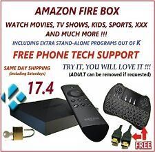 AMAZON FIRE TV BOX 4k W/ ALEXA 2ND GEN + MINI-KEYBOARD + HDMI WIRE