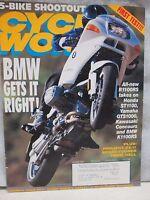 Cycle World Magazine August 1993 BMW R1100RS K1100RS Honda ST1100 Yamaha GTS1000