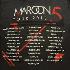 Size Small Unisex Maroon 5–2013 Concert Tour Tshirt, Grey/Charcoal, Adam Levine