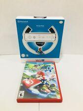 Mario Kart 8 & Steering Wheel (Nintendo Wii U, 2014) Free Shipping!!
