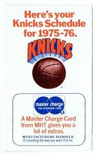 NEW YORK KNICKS ~ 1975-76 Schedule Brochure