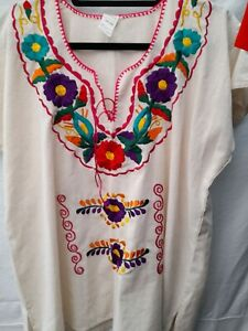 Mexican Embroidered Top Blouse