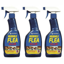 More details for 3x household flea killer spray trigger tick killing home mites cats dogs 500ml