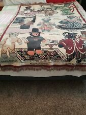 Vintage Goodwin Weavers North American Bear CO.1996 Throw Blanket Cotton
