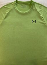 Men's Large, Green, Under Armour, Polyester T-shirt