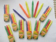 6 x Cute Kids Crayon Shaped Erasers - Assorted Colours - Great Party Favours