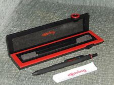 Rotring 600 Black Trio Old Style Multipen Red, Blue, .07 lead. NEW!.Knurled end