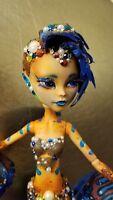 OOAK Mandarin Fish Mermaid Monster High Doll w/ Genuine Swarovski Crystals