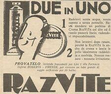 W6657 Crema da barba RAZVITE - Pubblicità 1932 - Advertising