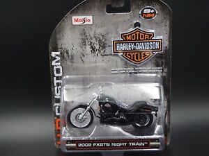 2002 FXSTB NIGHT TRAIN HARLEY DAVIDSON MOTORCYCLE MAISTO 1:24 DIECAST MODEL BIKE