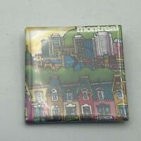 """Montreal Cityscape Skyline 2-3/8"""" Badge Button Pin Pinback S2"""